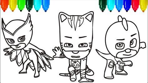 pj masks santa claus coloring pages colouring pages