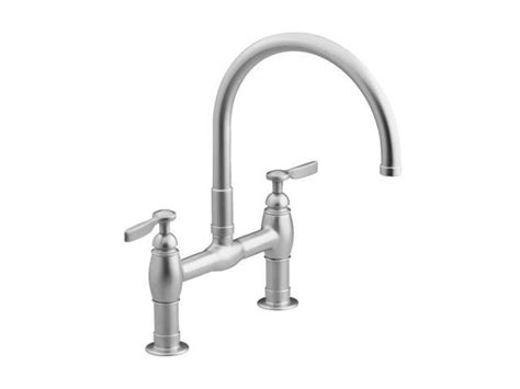 kohler parq bridge faucet kohler k 6130 4 vs parq deck mount kitchen bridge faucet