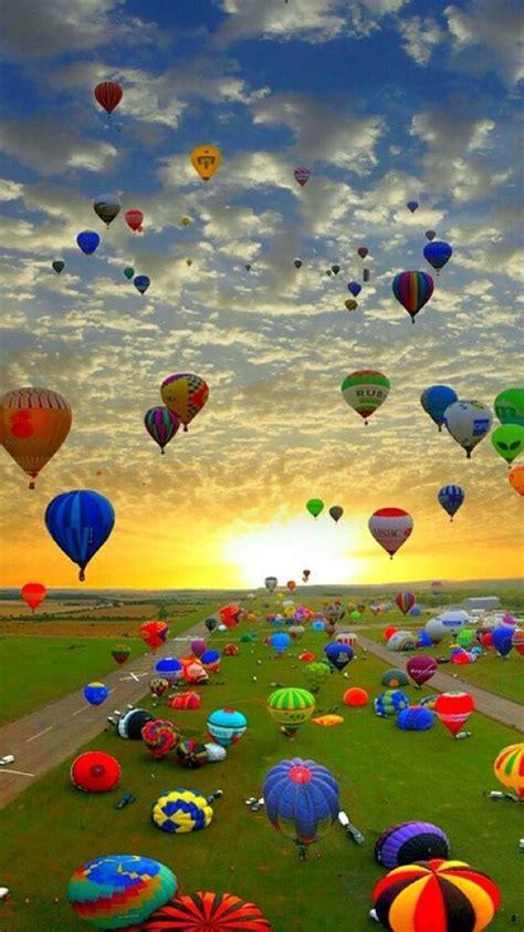 beautiful bilder naturfotografie heissluftballon