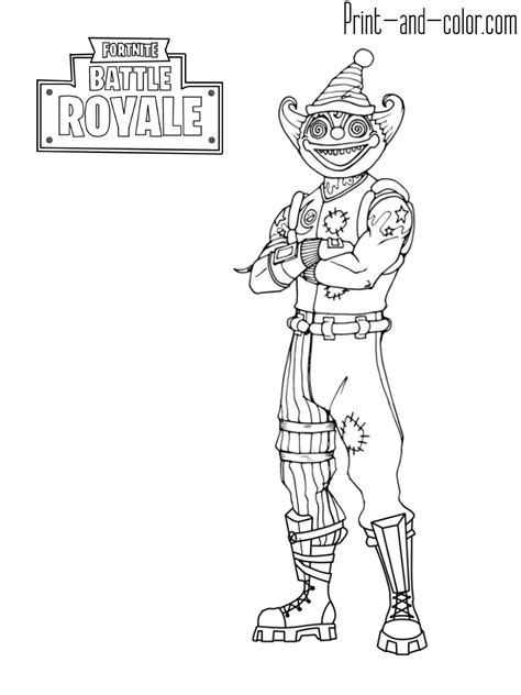 Kleurplaat Fortnite Drift by Fortnite Coloring Pages Print And Color