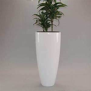 Pflanzkübel Weiß Rattan : blumenk bel fiberglas rund konisch d30xh60cm hochglanz wei ~ Indierocktalk.com Haus und Dekorationen