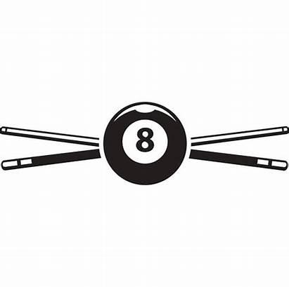 Pool Svg Billiards Sticks Ball Clipart Eight