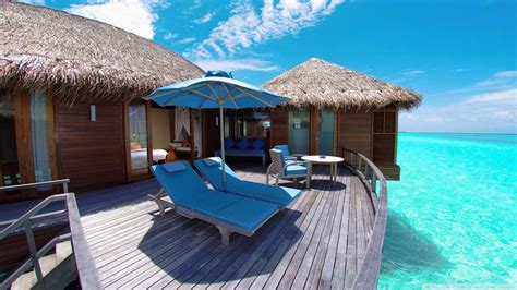Download Water Bungalows In Maldives Resort Wallpaper