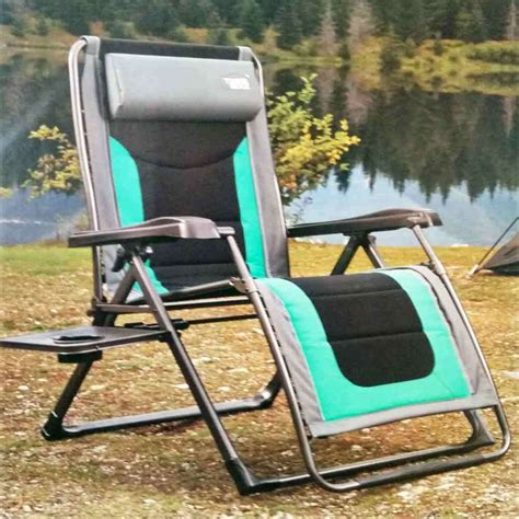 timber ridge folding lounge chair timber ridge zero gravity lounge chair with side table new