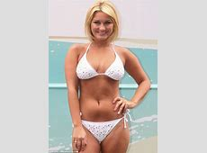 Sam Faiers poses in skimpy swimwear outside a bus Daily