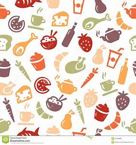 Food Pattern Wallpaper Tumblr | Background with food icons ...
