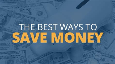 The Absolute Best Ways To Save Money Youtube