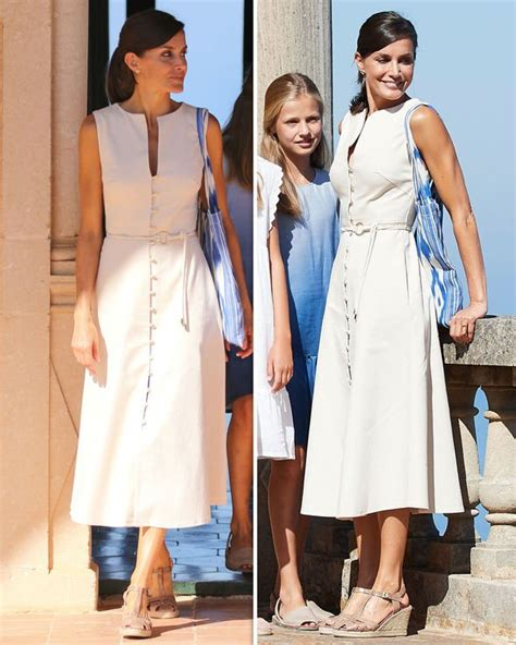 Queen Letizia looks summery in white for day out with King ...