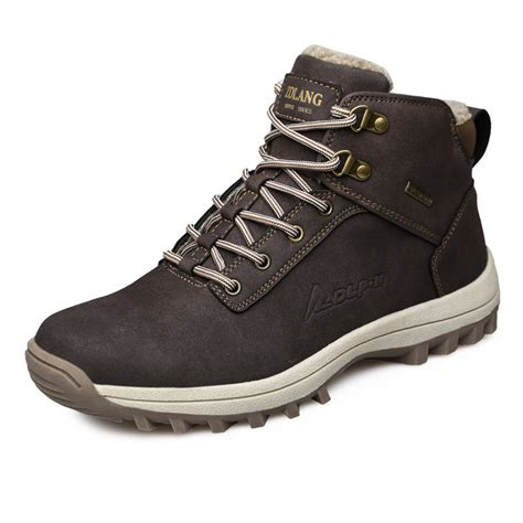 mens winter snow boots outdoor climbing sneaker super warm
