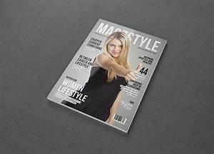 indesign magazine photorealistic magazine mockup free psd on behance