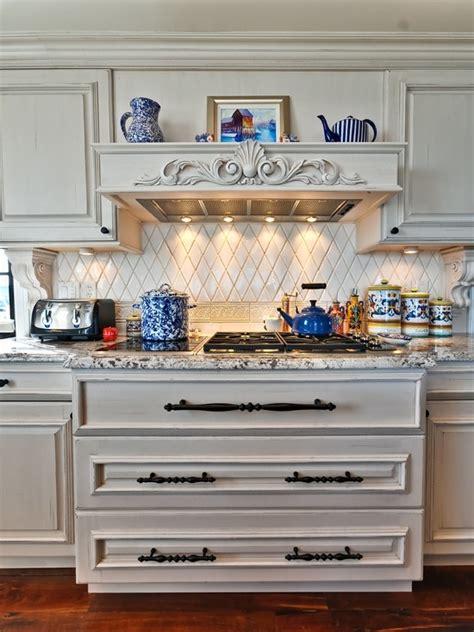 Harlequin Tile Backsplash Kitchen Backsplash American