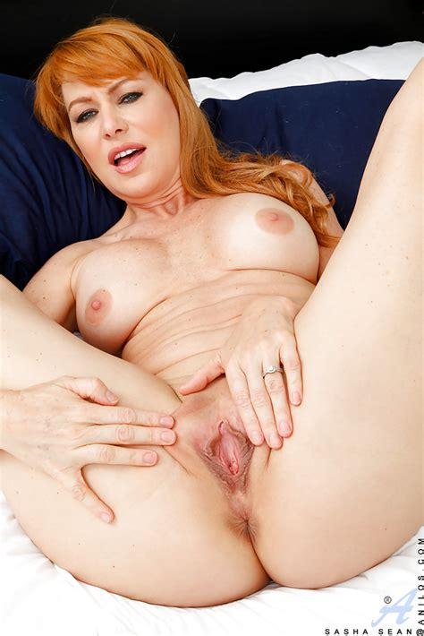 Older Redhead Milf Sasha Sean Stripping Naked To Part