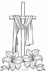 Coloring Cross Printable Jesus Crosses Cool2bkids Template sketch template