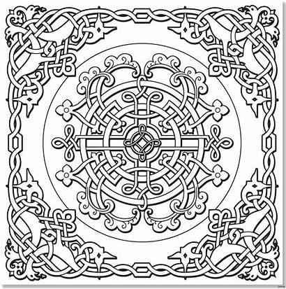 Celtic Coloring Pages Knot Mandala Designs Printable