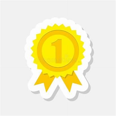 Ribbon Number Award Nummer Place Witte Achtergrond