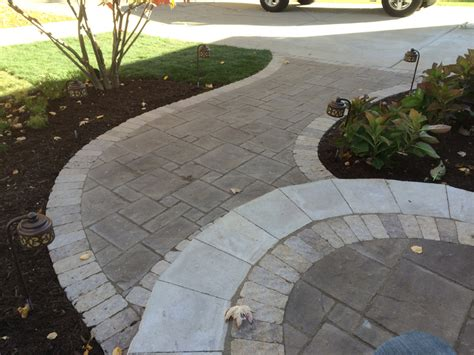 Brick and Natural Stone Paver Walkways | Landscape Design