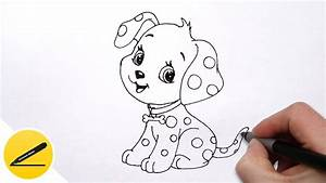 Drawing Of A Puppy How To Draw A Puppy (Dog). Very Simple ...