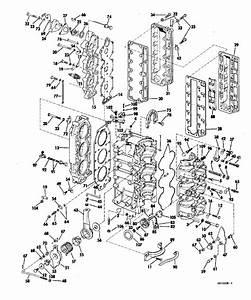 Johnson Powerhead Group Parts For 1969 55hp 55esl69a