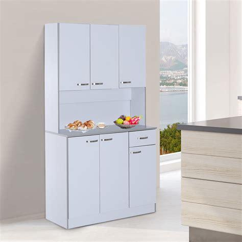 Kitchen Cupboard Storage by Homcom Wooden Kitchen Multi Storage Cabinet Display