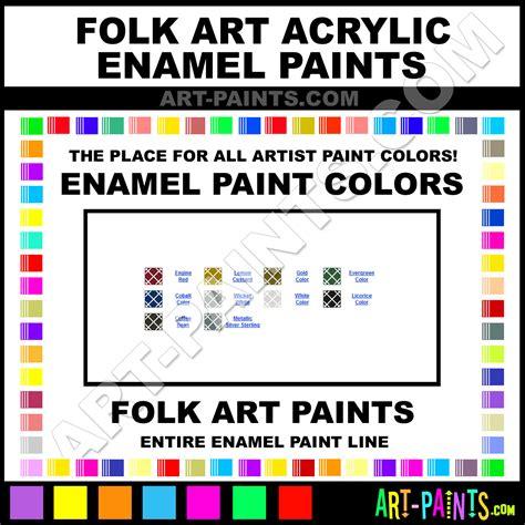 folk acrylic enamel paint colors folk acrylic
