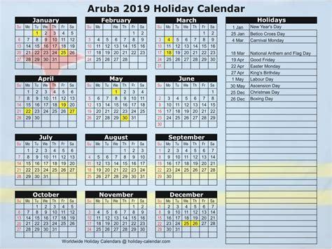 aruba holiday calendar