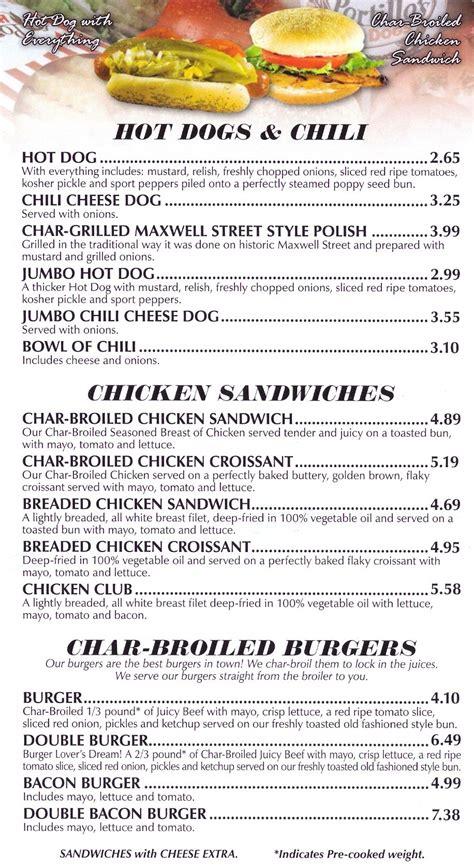 menu cuisine az fast food source fast food menus and blogs portillos menu