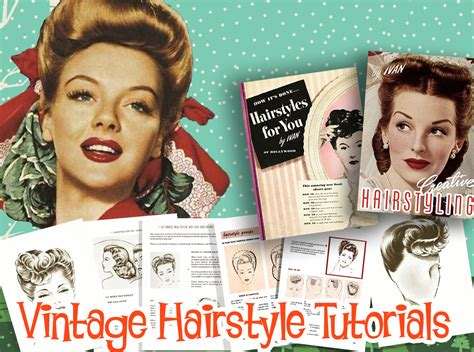 1940s Hairstyle Tutorial by 1940s Hairstyle Tutorials Vintage Makeup Guide