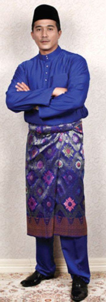 dress batik my black baju melayu biru traditional costume