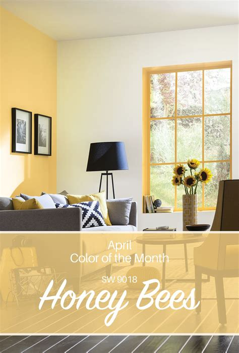 sherwin williams april color of the month honey bees sw 9018 a year in paint color in 2019