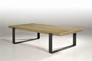 Table Bois Et Fer : table basse pep 39 s en ch ne et pieds en fer b niste proche bordeaux meubles favaro ~ Teatrodelosmanantiales.com Idées de Décoration