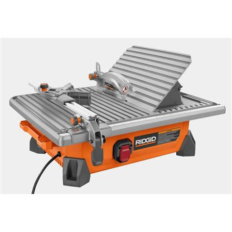 home depot ridgid tile saw ridgid 7 quot site tile saw slickdeals net