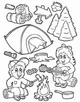 Camping Coloring Printable Equipment Coloringhome Adults Bko Popular Thevillageanthology sketch template