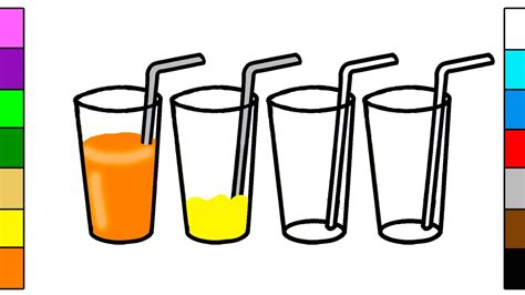Fruit Juice Coloring Page For Kids