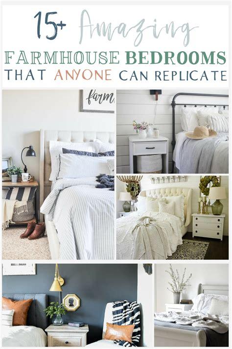 farmhouse bedroom ideas   replicate