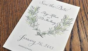 winter laurel wreath wedding invitation gallery With wedding invitation printing dallas