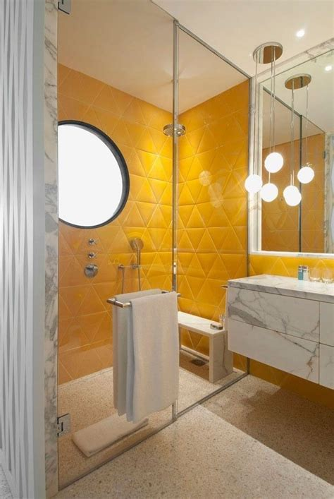 17 best ideas about yellow tile bathrooms on