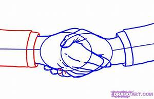 How to Draw Shaking Hands, Step by Step, Hands, People ...