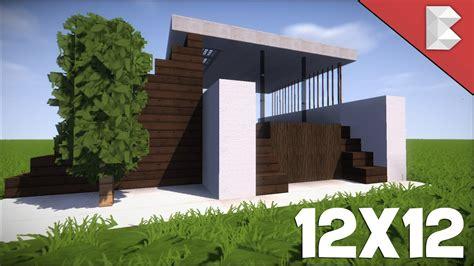 minecraft  modern house tutorial   build  small modern house youtube