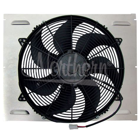 electric fan with shroud northern factory single 16 quot electric fan shroud 16 5
