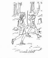 Hiking Coloring Purple Popular Recomendadas Albuns sketch template