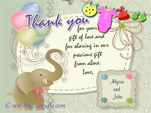 thank you messages for baby shower messages and gifts With thank you letter after baby shower