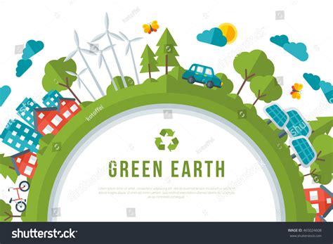 Eco Friendly Green Energy Concept Frame Stock Vector
