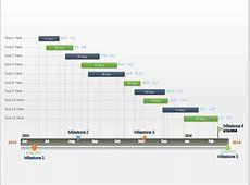 Editable PowerPoint Gantt chart timeline template for