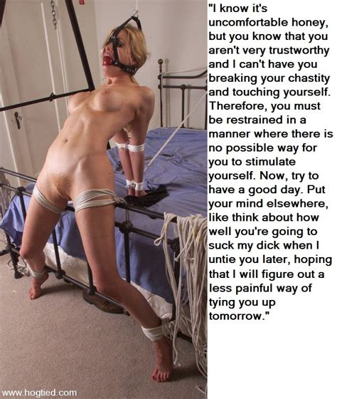 Female Bondagechastity Captions 03 Pornhugocom