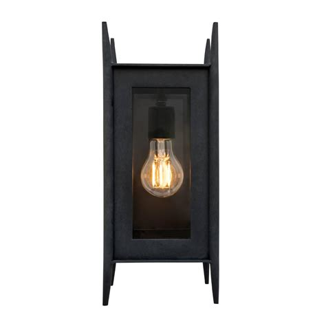 modern wrought iron exterior wall sconce outdoor lighting