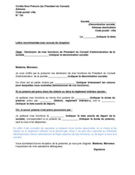 Cv Détaillé Gratuit by Exemple De Lettre De D 233 Mission D Un Conseil D