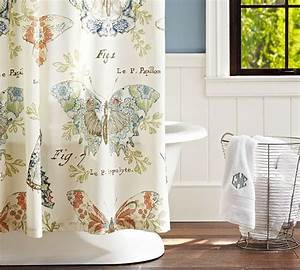 shower curtains with barns pottery barn butterfly fabric With butterfly shower curtain pottery barn