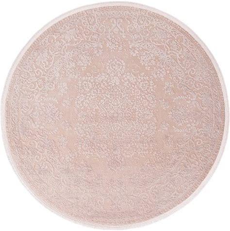 oosters tapijt roze bol vloerkleed oosters motief pudra 160x160cm rond roze