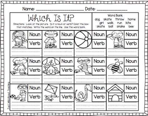 just about teaching teach me nouns and verbs