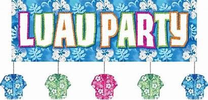 Luau Clip Hawaiian Clipart Word Graphics Glitter